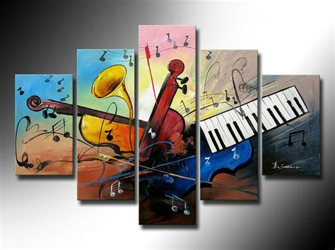 music themed home decor home decor oil painting on canvas large music theme