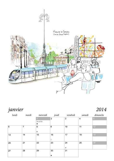 Calendrier Bordeaux Calendrier De Bordeaux 2 Juliebulle Illustration Bordeaux