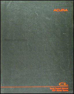 car repair manuals download 1997 acura cl user handbook 1997 1999 acura cl original body repair shop manual