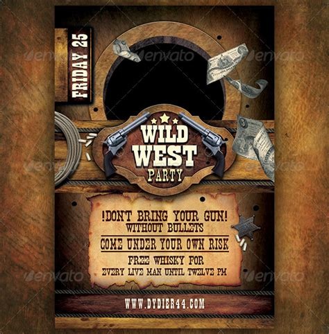 wild west flyer template 4x6 by dydier44 graphicriver