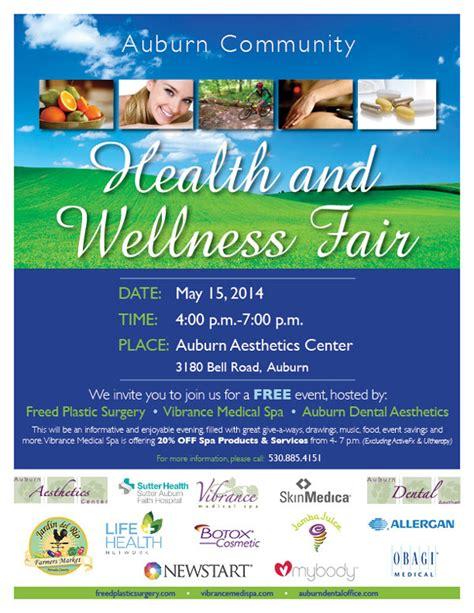 Health Fair May 15 Vibrance Medical Spa Health And Wellness Fair Flyer Template
