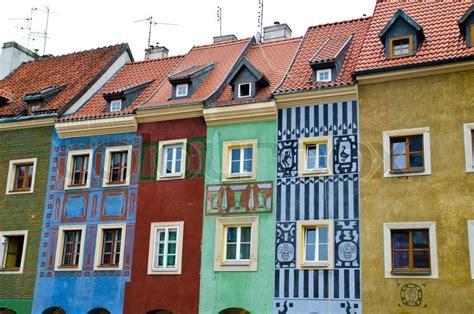 european houses old european houses in poland stock photo colourbox