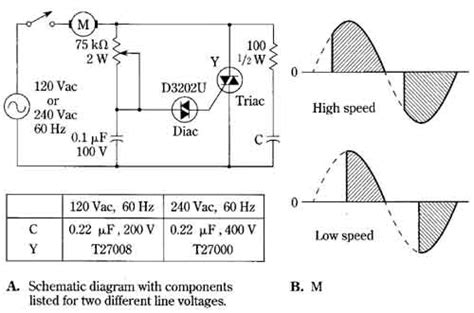induction motor speed using triac triac speed circuit for induction motors