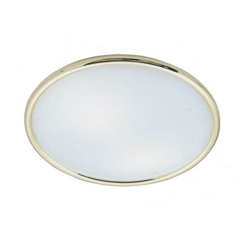 flush gold surround white opal glass ceiling light for
