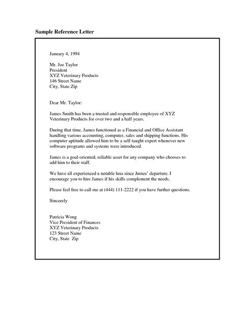 Reference Letter Of Employment Employment Recommendation Letter Exles The Letter Sle