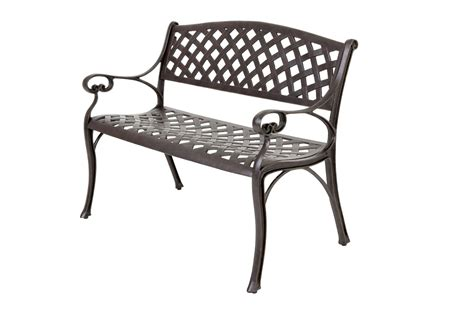 garden metal bench outside edge garden furniture blog free cast aluminium