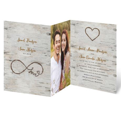 photo wedding invitations for infinity zfold invitation invitations by