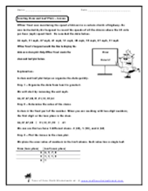 free stem and leaf plot worksheets math worksheets land answer key math worksheet land probability and understanding box
