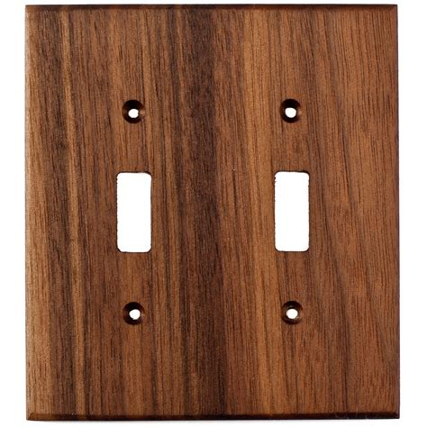 black light switch plates black walnut wood wall plates 2 gang light switch cover