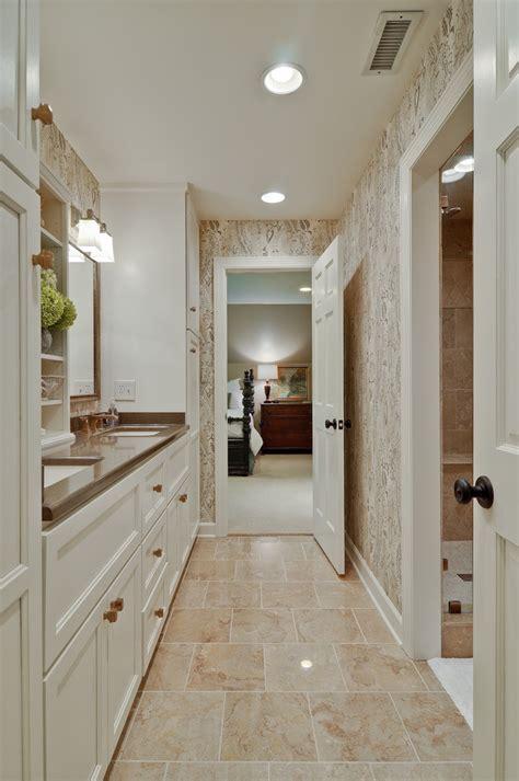 traditional bathrooms flooring tile floor patterns bathroom rustic with bath mat double