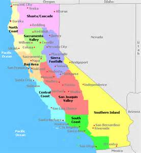 california american map map of california