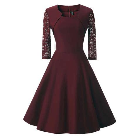 Sleeve Midi A Line Lace Dress lace sheer sleeve formal evening wedding midi a
