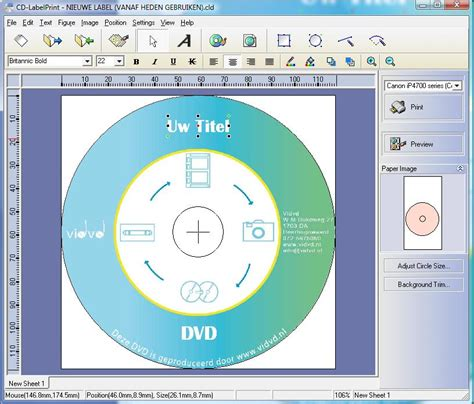 printable dvd label software free cd labels printen met een canon all in one printer vidvd