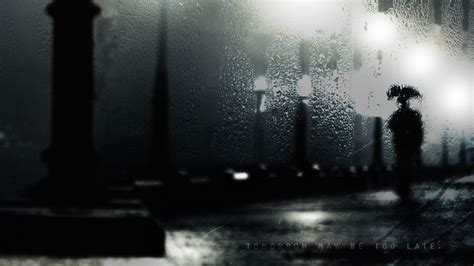 wallpaper dark rain rain alone walldevil