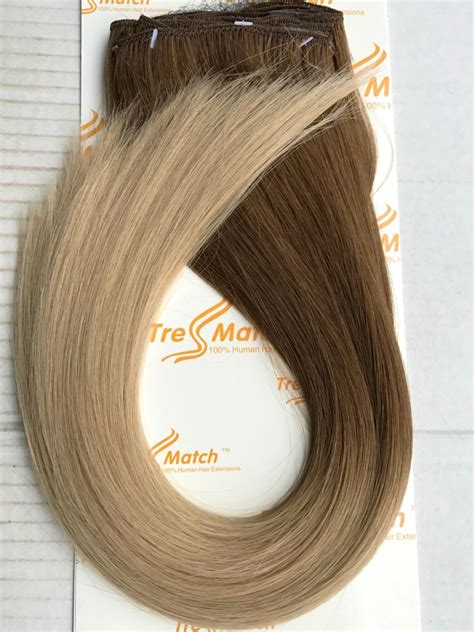 tressmatch hair extensions amazon com tressmatch16 quot 18 quot remy human hair clip in