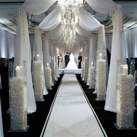 white draping white draping for ceremony black tie wedding pinterest