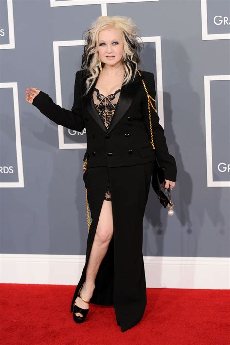 Grammy Awards Cyndi Lauper by Carpet Dress Pictures At Grammy Awards 2012 Popsugar