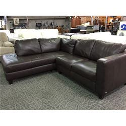 italsofa brown leather sofa italsofa brown leather sofa with chaise able auctions