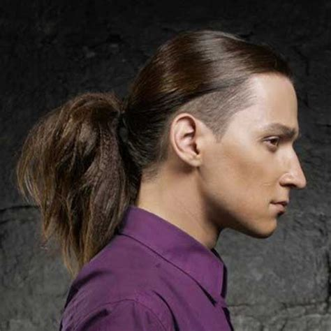 pony tail sides shaved long hairstyles for men with thick hair mens hairstyles 2018