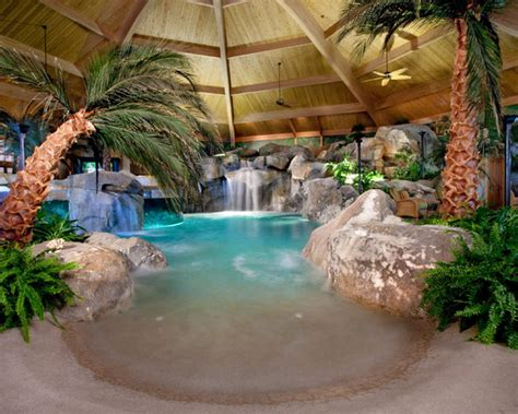 unique pool ideas unique indoor home pool beach swim tropical home