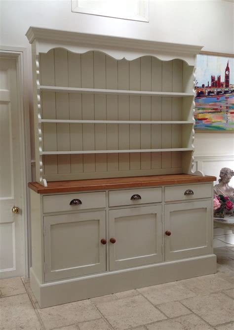 hand painted dresser cream solid pine welsh dresser