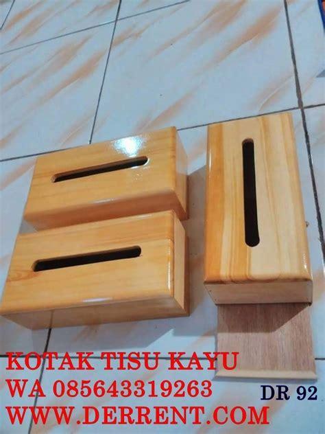 Tempat Tisu Kayu Multifungsi jual kotak tisu kayu pinus dengan finising melamin