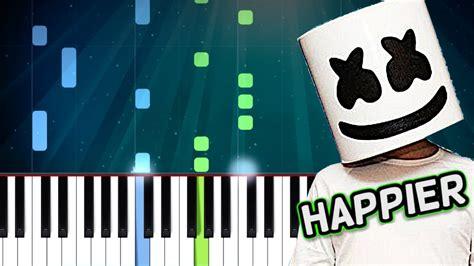 marshmello happier chords marshmello quot happier quot ft bastille piano tutorial chords