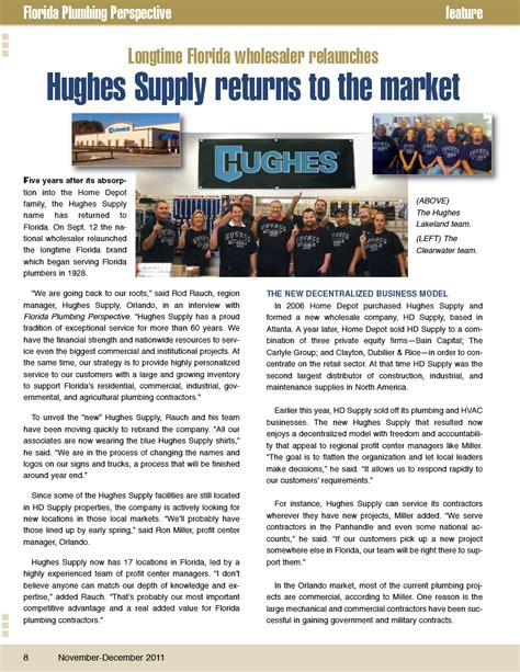 Florida Plumbing by Hughes Supply Featured In Florida Plumbing Perspective