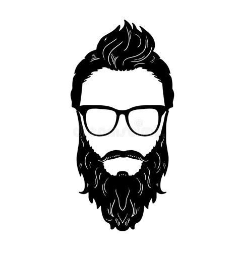 S Hairstyle Glasses Beard by Barbershop Beard Mustache Glasses Hairstyle Vector