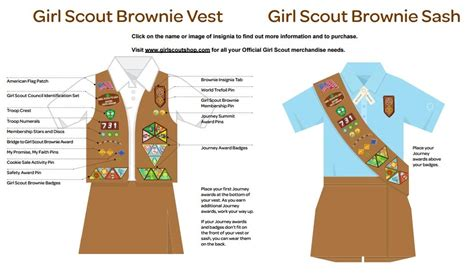 printable girl scout vest pattern brownie info uniforms troop4467