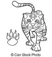 coloring page tiger paw tiger paw print paw print with tiger claw inside clipart