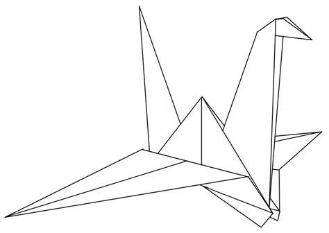 Origami Crane Outline - paper crane 01 by hatirrisworldproject on deviantart