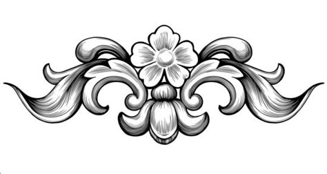 free baroque design elements vector vintage baroque flower vectors vector flower free download