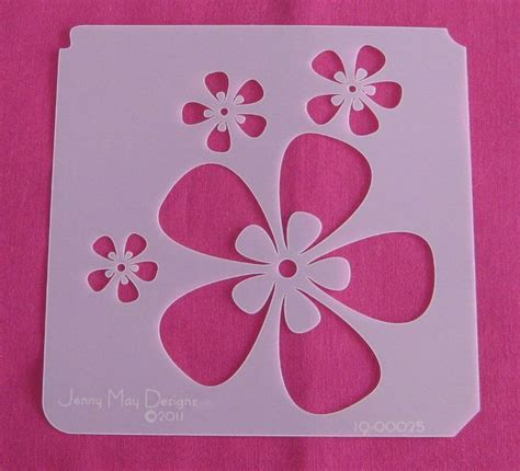 Stencil 3 Flowers 17 best images about stenciling flowers on