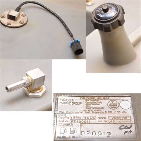 boat gas tank vent cap tracker boat above deck fuel gas tank w sending unit and