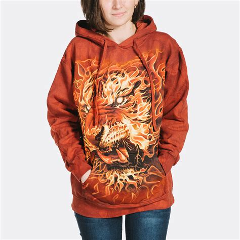 Tiger Hoodie tiger hoodie hooded sweatshirt environmentally friendly