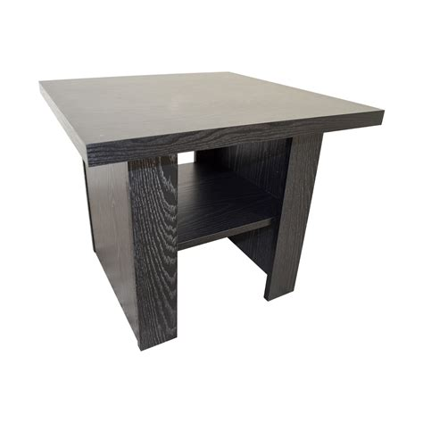 black side table with shelf square coffee table with drawer and shelf buethe org