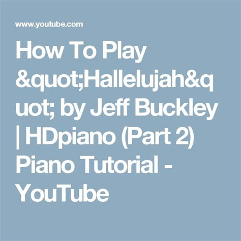 keyboard tutorial hallelujah 17 best images about tutorial piano on pinterest free