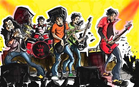 wallpaper cartoon band kiss band cartoon wallpaper
