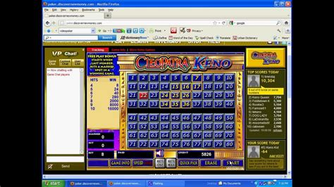 keno pattern finder cleopatra keno play online youtube