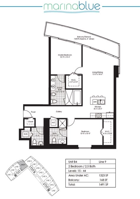 marina blue floor plans marina blue unit 1609 condo for sale in downtown miami