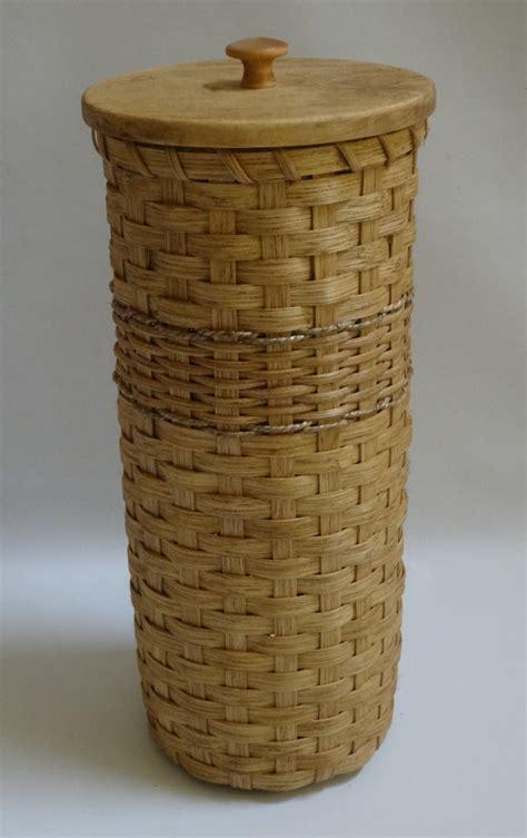 Basket With Paper - toilet paper basket with lid bathroom tissue basket