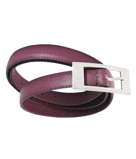 midas purple leather belt buy at low price in