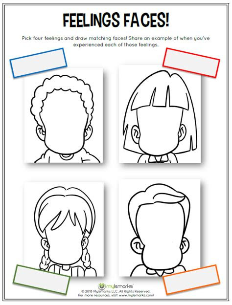Drawing Your Feelings by Feelings And Mood Worksheets