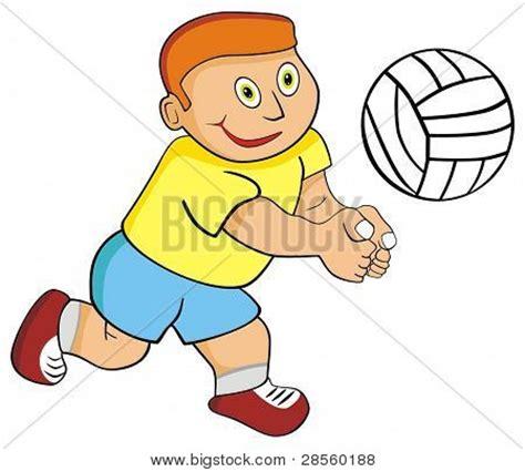 imagenes de niños jugando volibol vector kid ni 241 o jugando voleibol
