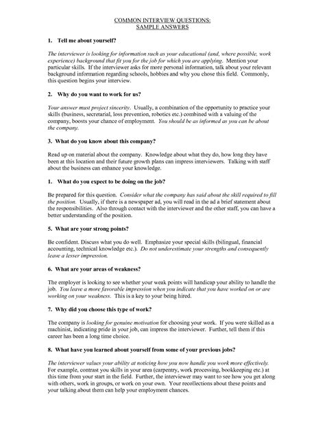 file layout interview questions image gallery job interview answers exles