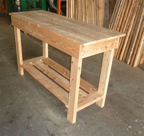 wooden work bench wooden work bench 1 45m long great for garage v sturdy ebay