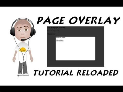 website tutorial overlay web page overlay tutorial reloaded css javascript