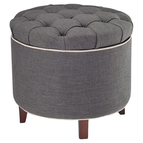 gray ottoman with storage storage ottoman intriguing interiors pinterest grey