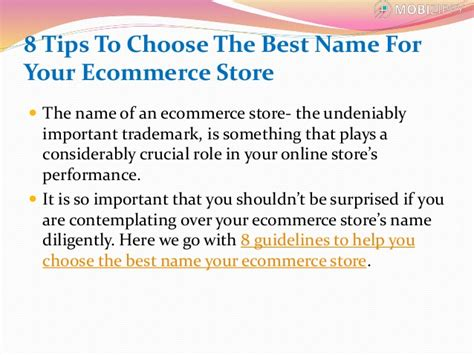 8 tips to choose the best name for your ecommerce store